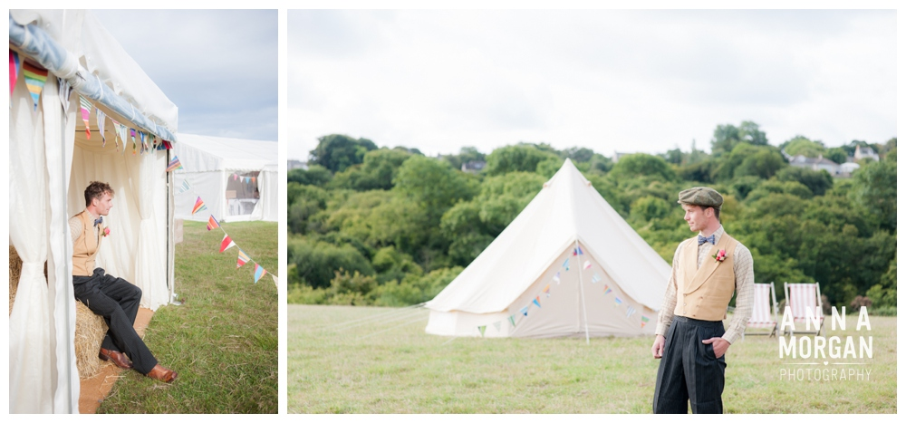 Bunting and tents wilkswood wedding venue
