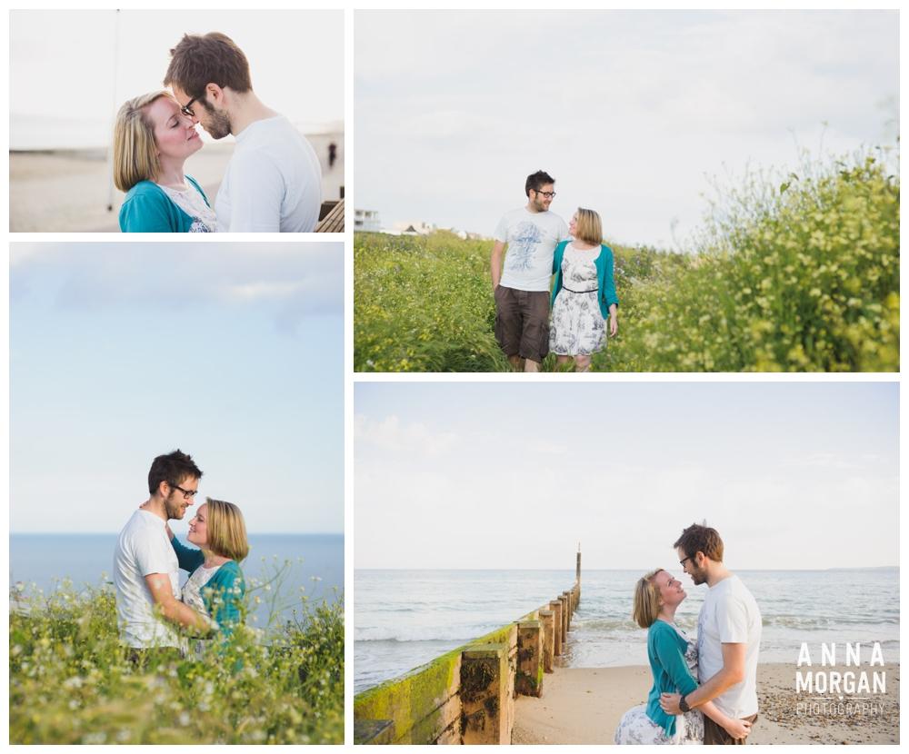 Bournemouth beach pre wedding photographer