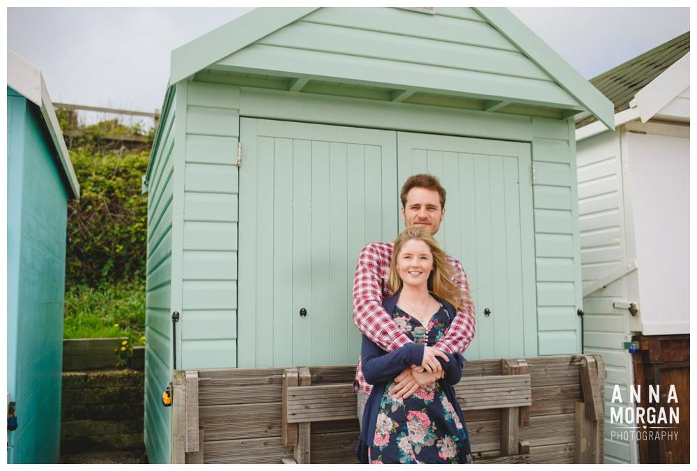 Beach wedding bournemouth pre wedding shoot beach huts-1