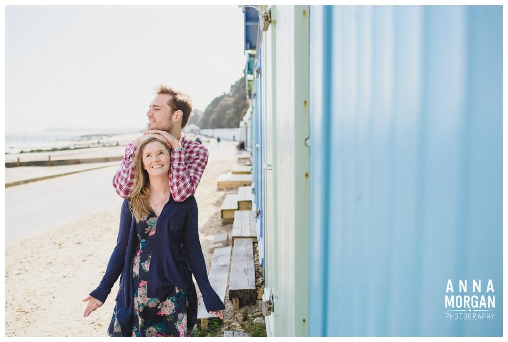 Beach wedding bournemouth pre wedding shoot beach huts-13