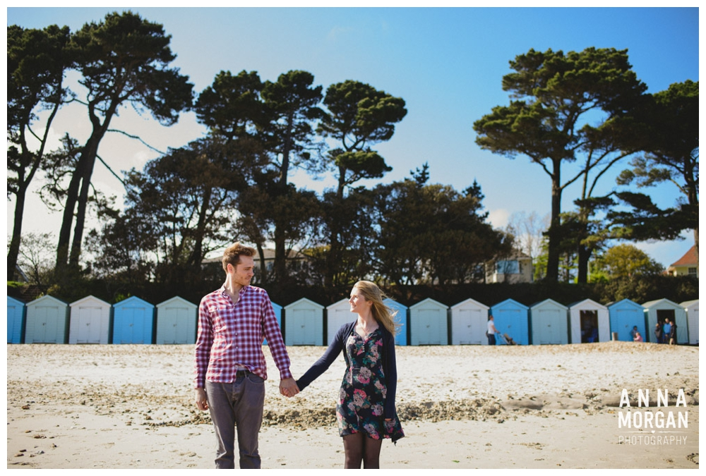 Beach wedding bournemouth pre wedding shoot beach huts-15