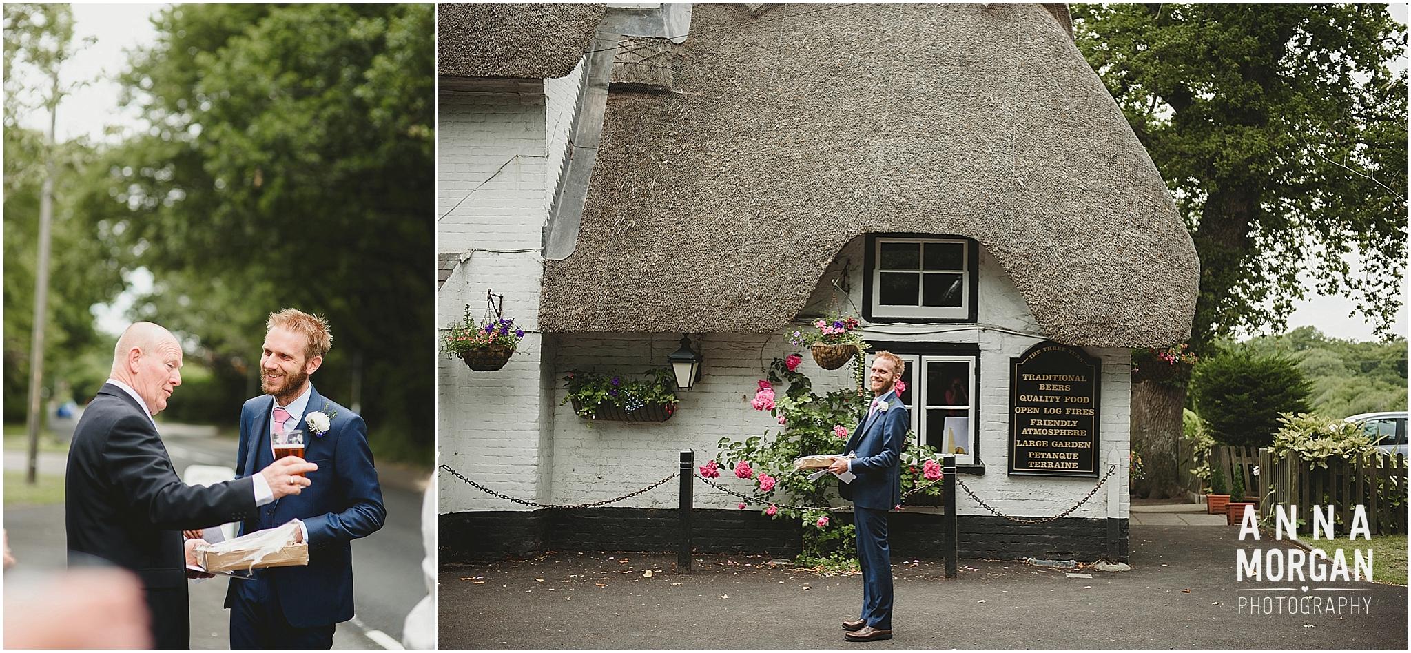 Amy & Marc Three Tunns Wedding Bransgore Dorset-4