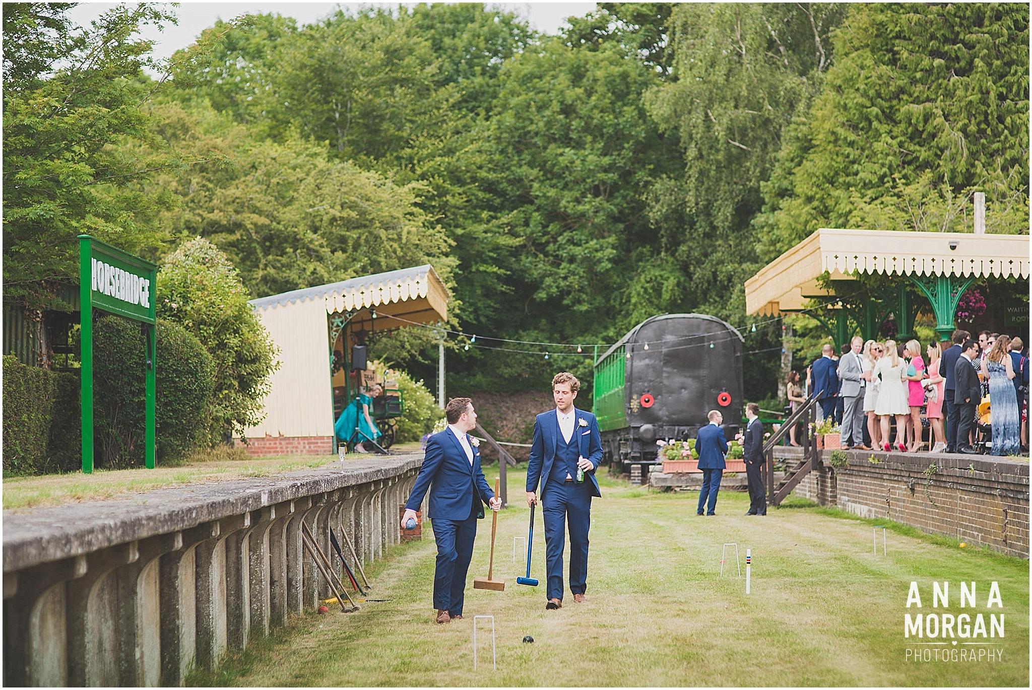 Horsebridge Station Wedding Becky & Freddie Anna Morgan Photography-29