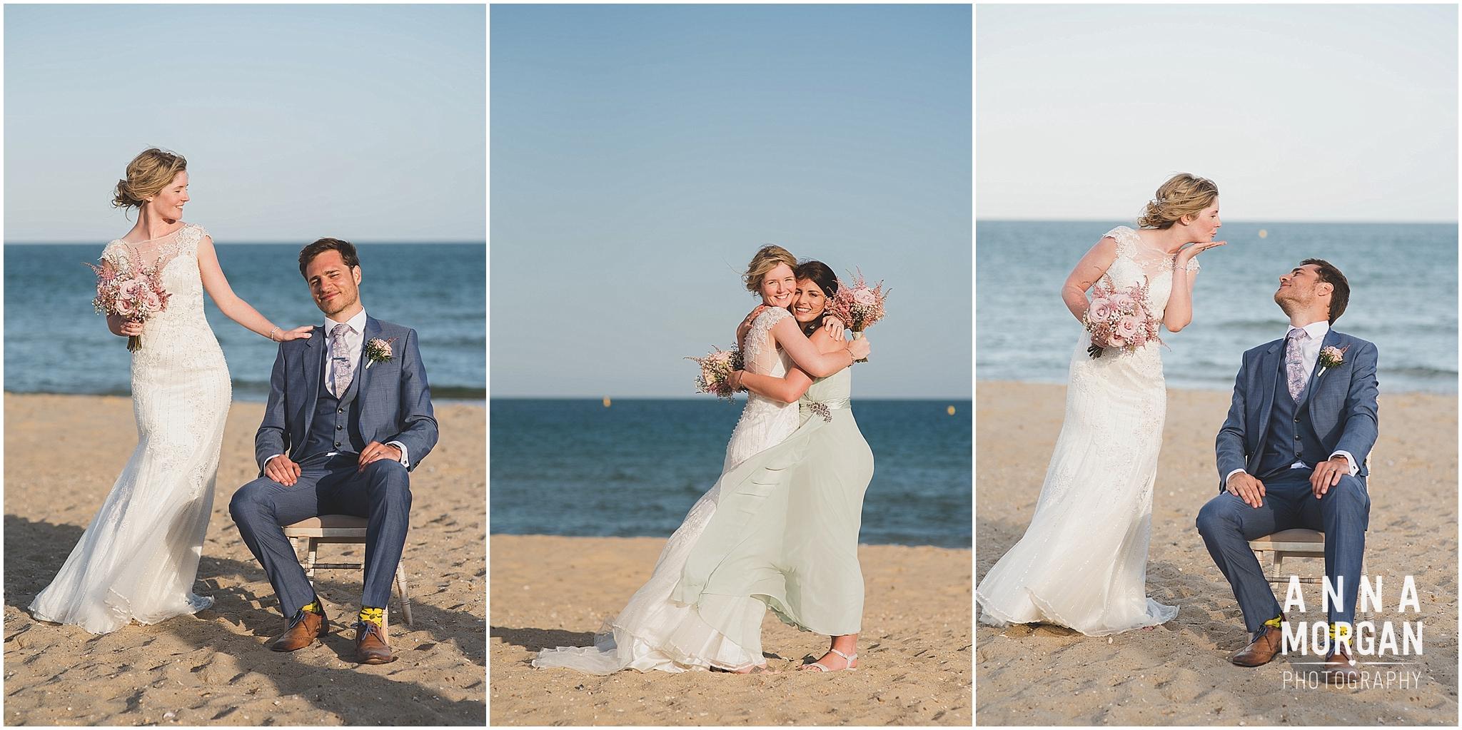 Beach Wedding Bournemouth Wedding Photographer Jess & Louis -103