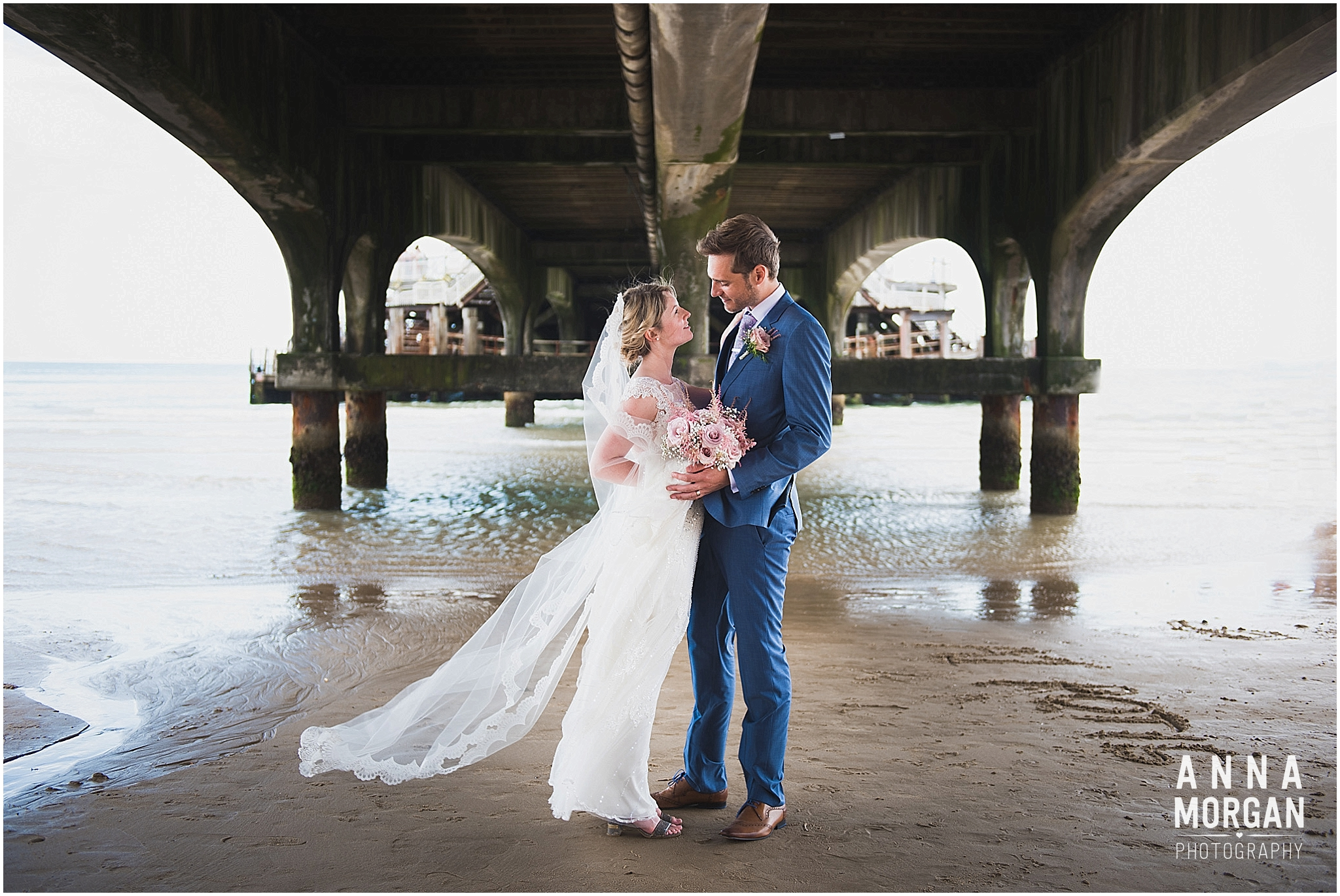 Beach Wedding Bournemouth Wedding Photographer Jess & Louis -70