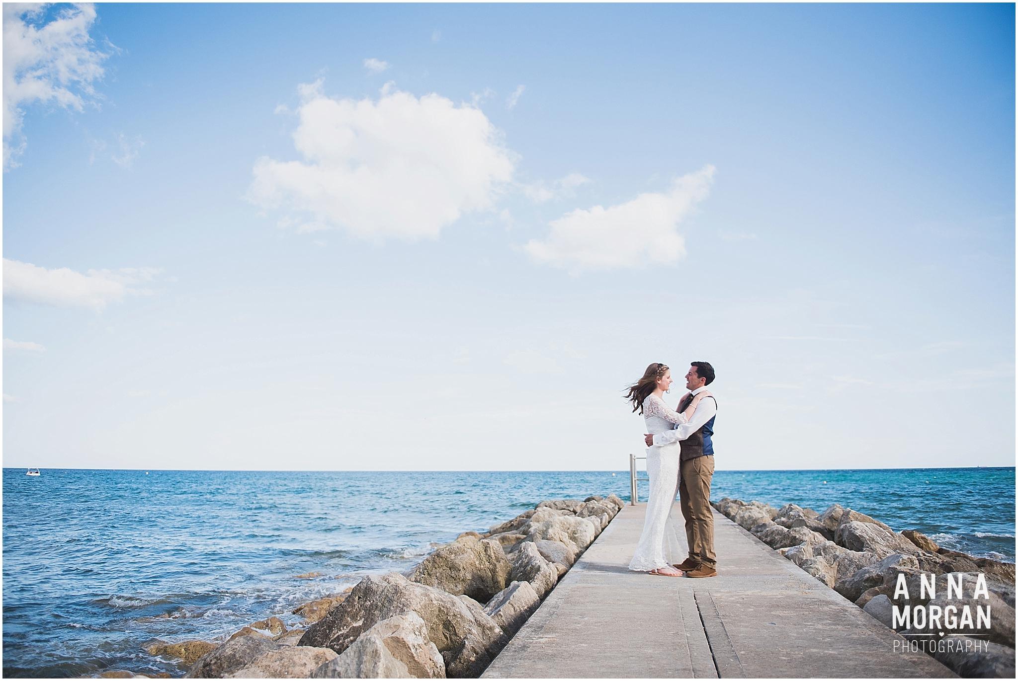 Katie & Hugh Branksome Chine beach wedding Dorset-123
