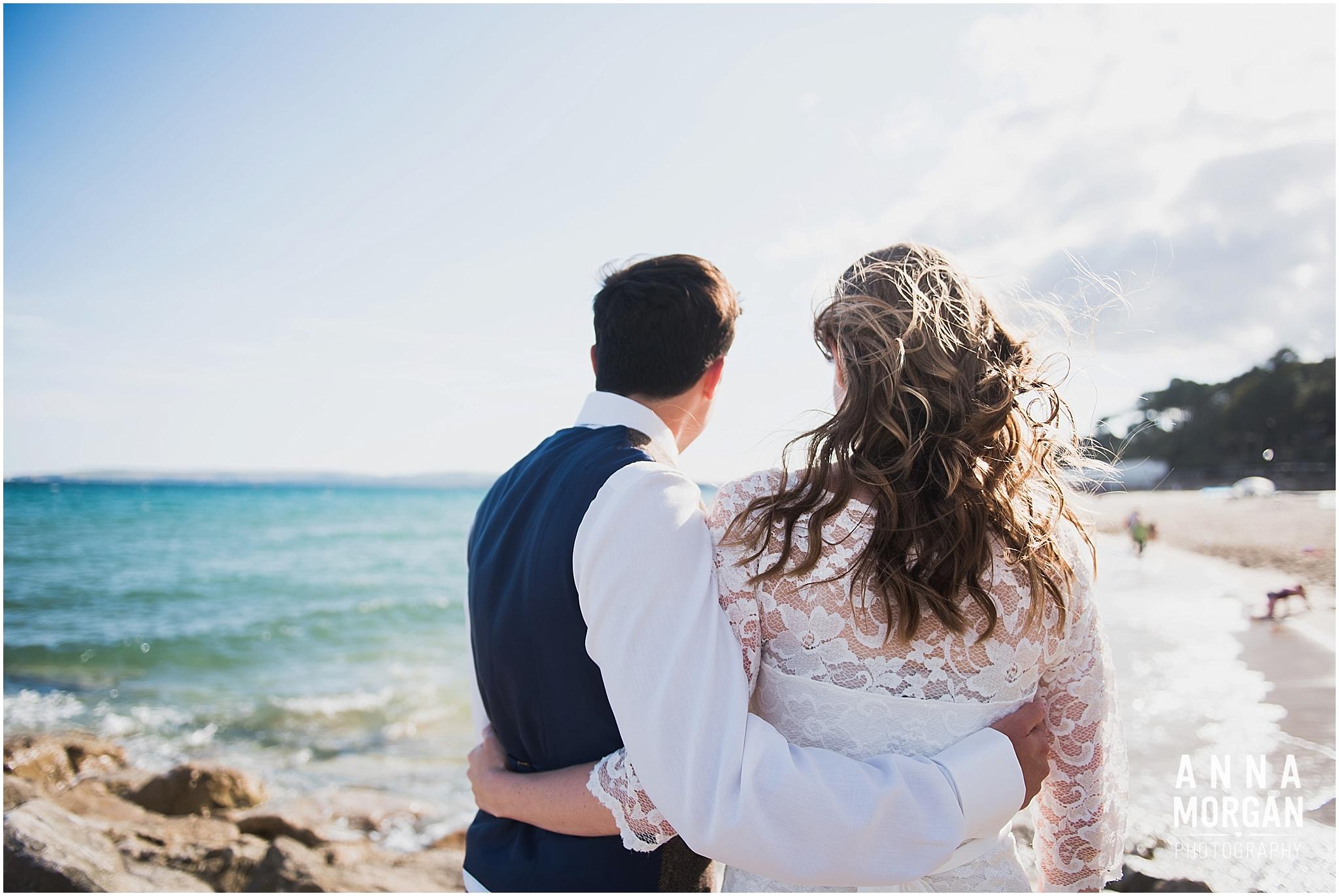 Katie & Hugh Branksome Chine beach wedding Dorset-124