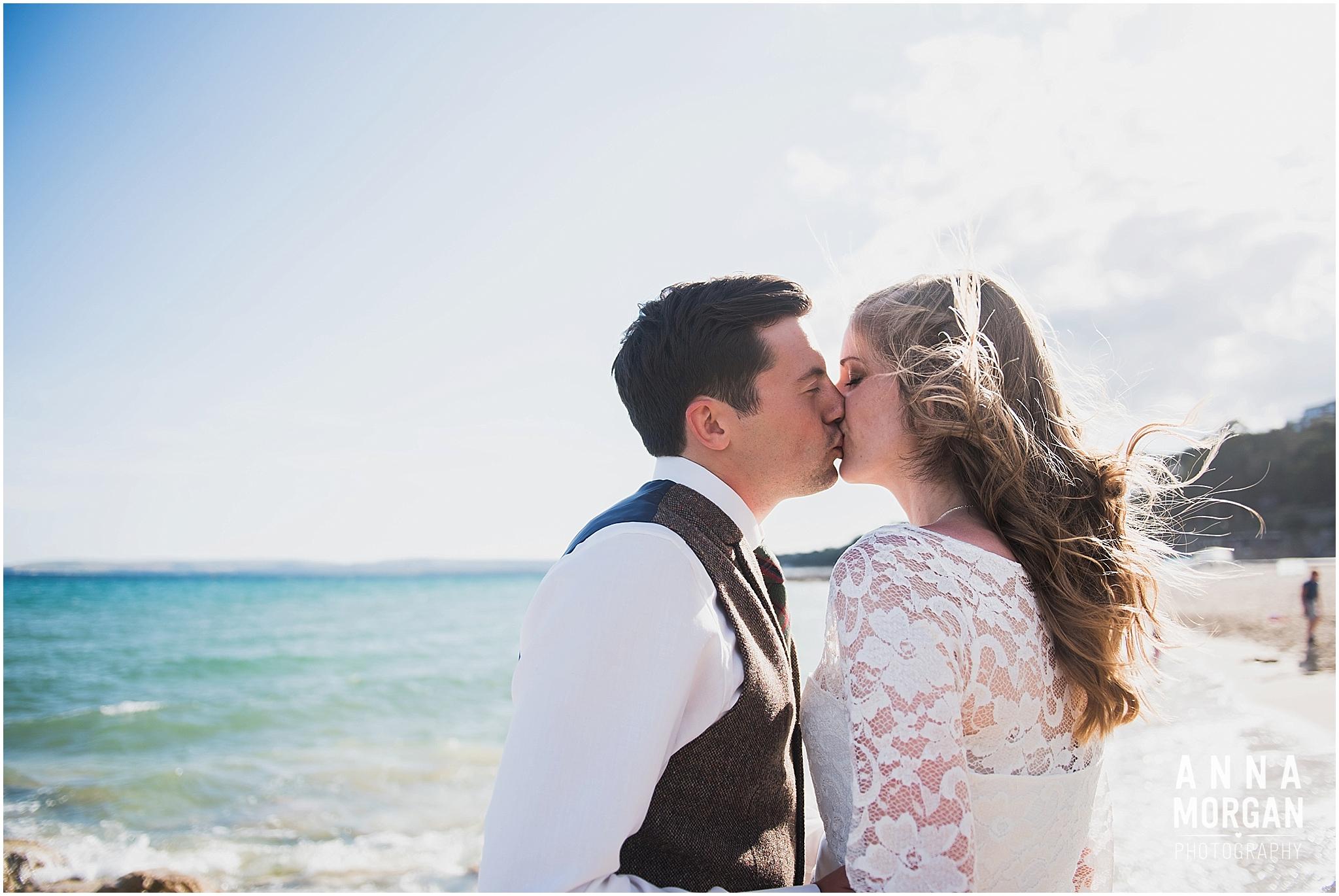 Katie & Hugh Branksome Chine beach wedding Dorset-125