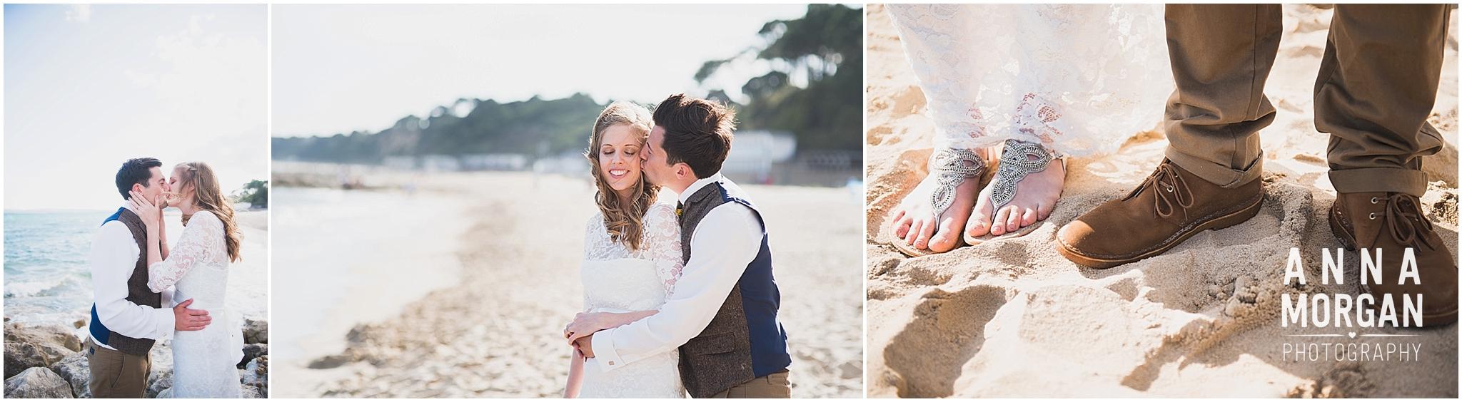 Katie & Hugh Branksome Chine beach wedding Dorset-127