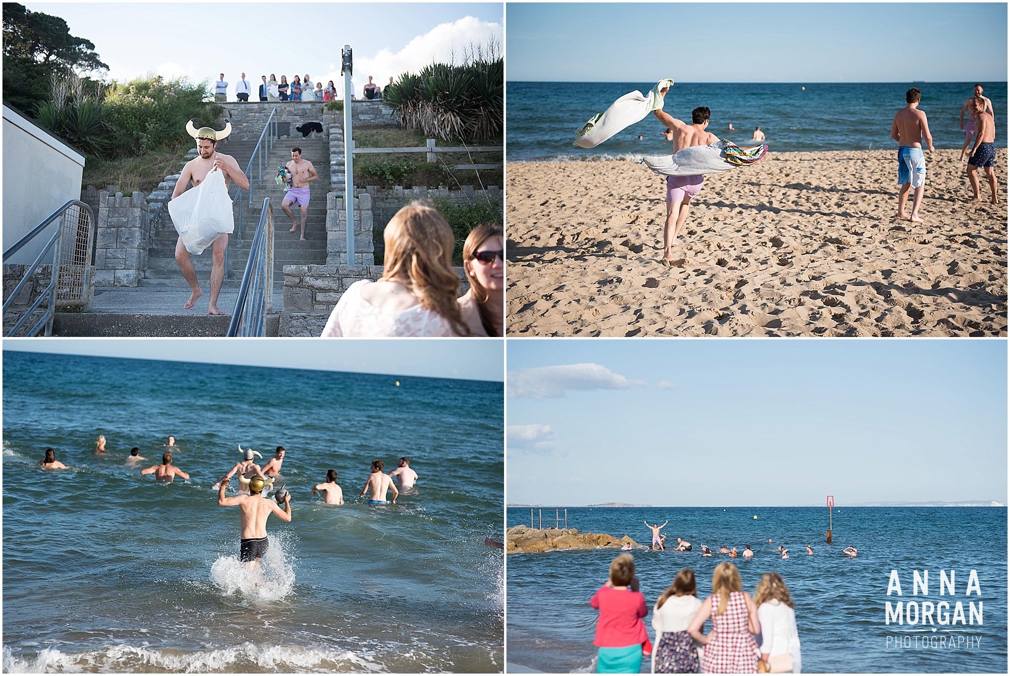 Katie & Hugh Branksome Chine beach wedding Dorset-134