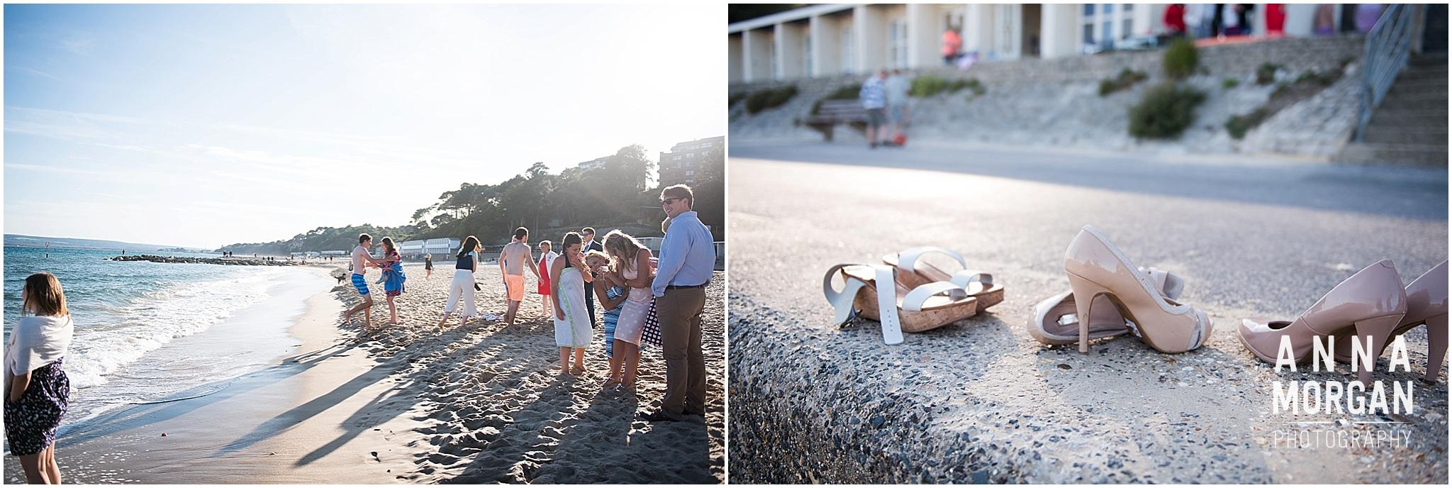 Katie & Hugh Branksome Chine beach wedding Dorset-139