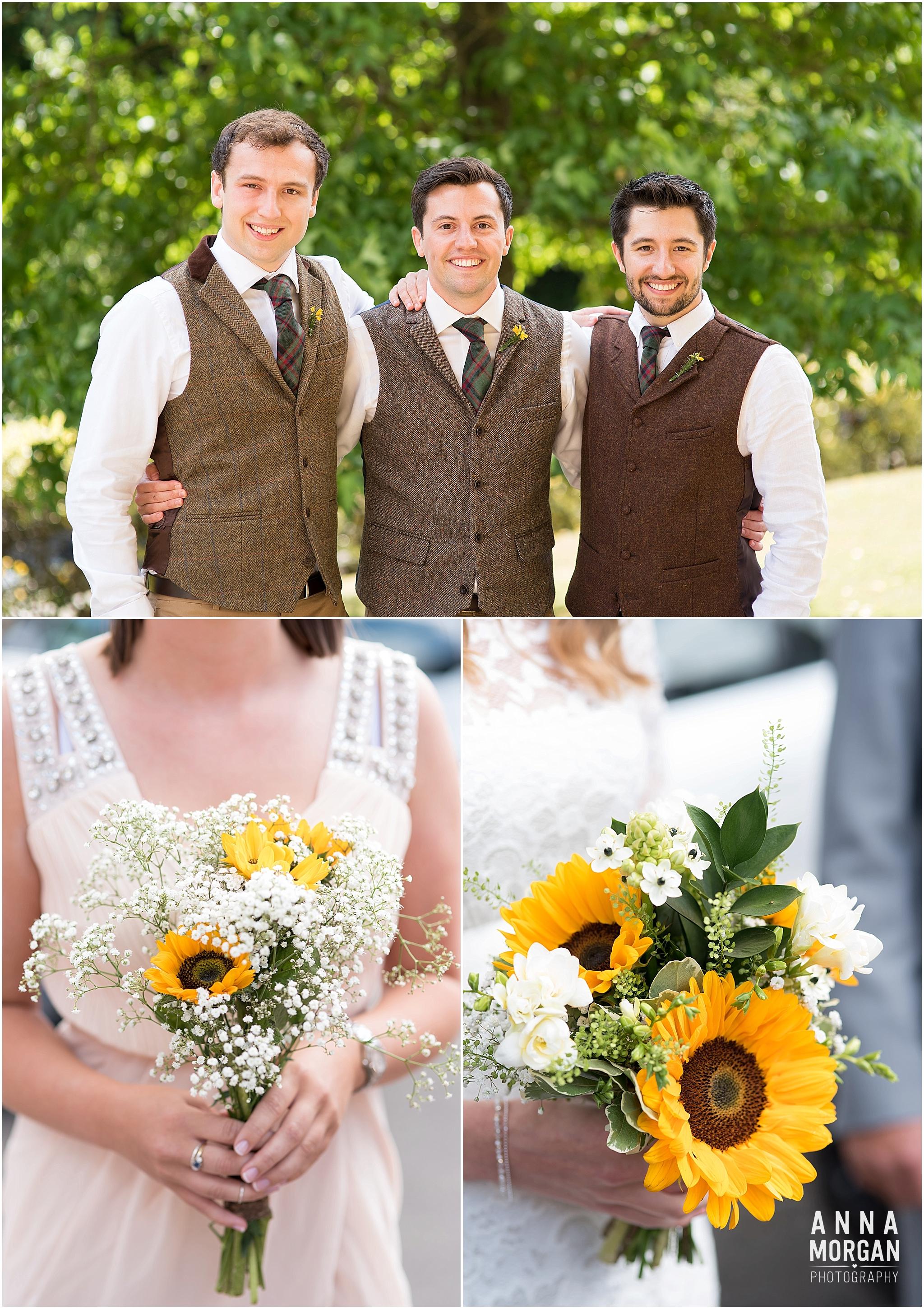 Katie & Hugh Branksome Chine beach wedding Dorset-3