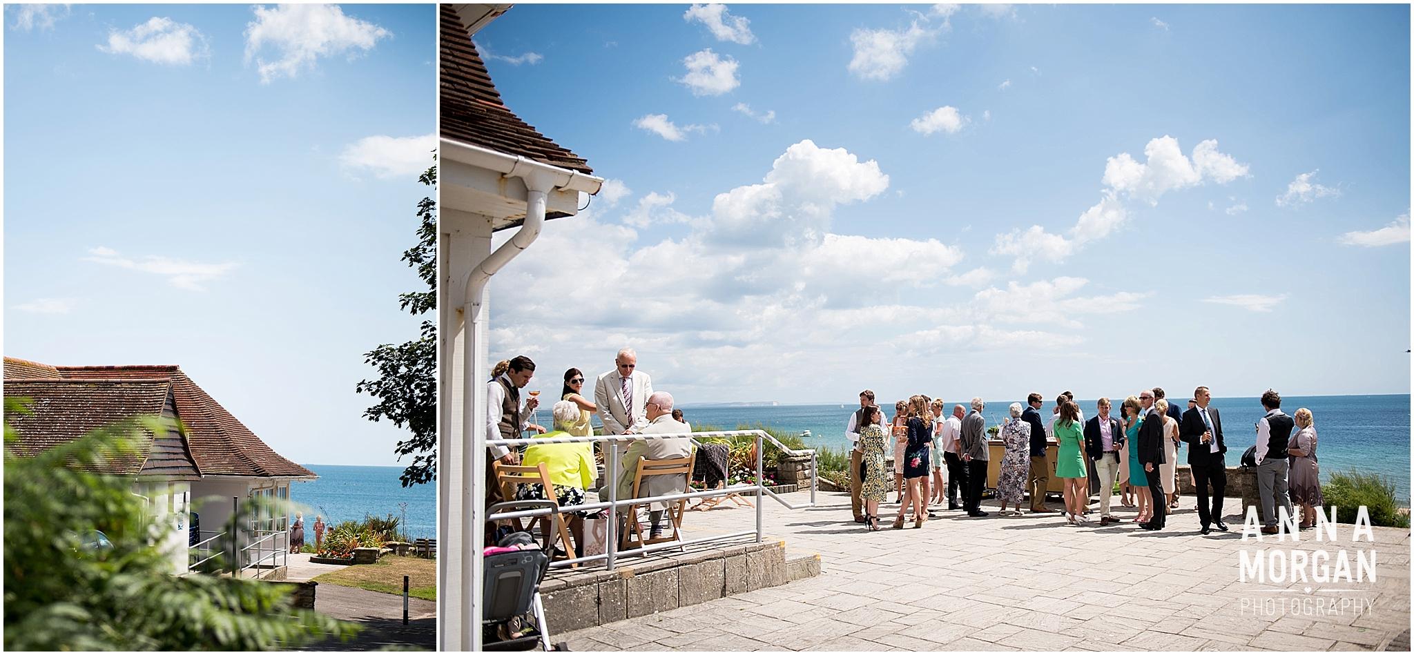 Katie & Hugh Branksome Chine beach wedding Dorset-45