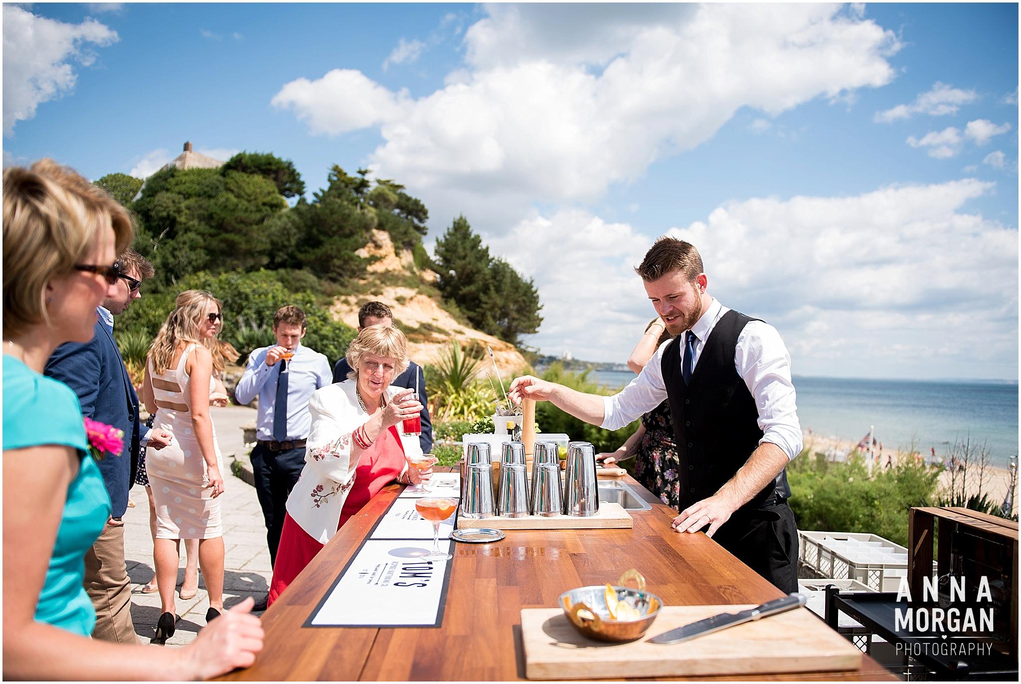 Katie & Hugh Branksome Chine beach wedding Dorset-49