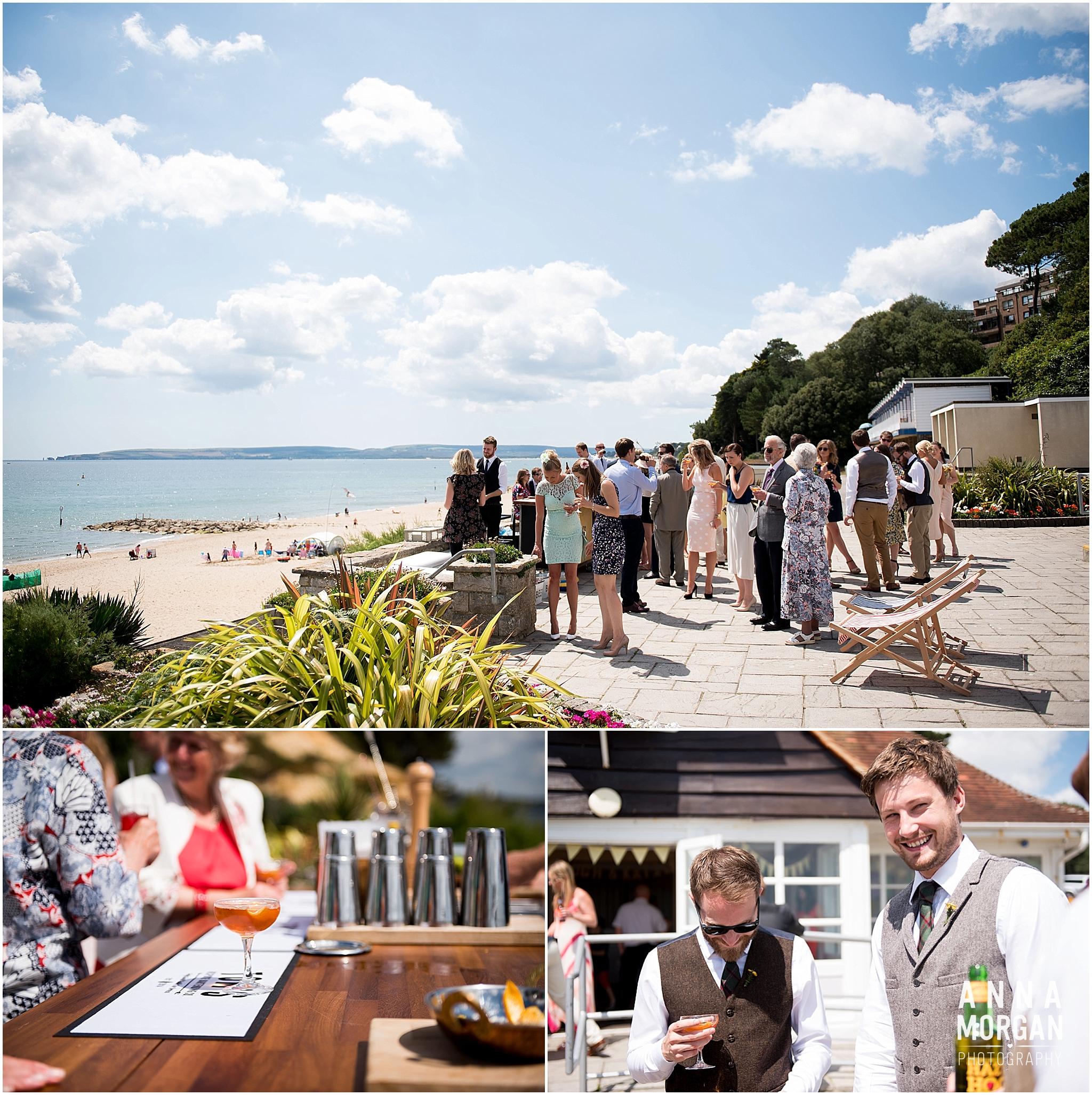 Katie & Hugh Branksome Chine beach wedding Dorset-52