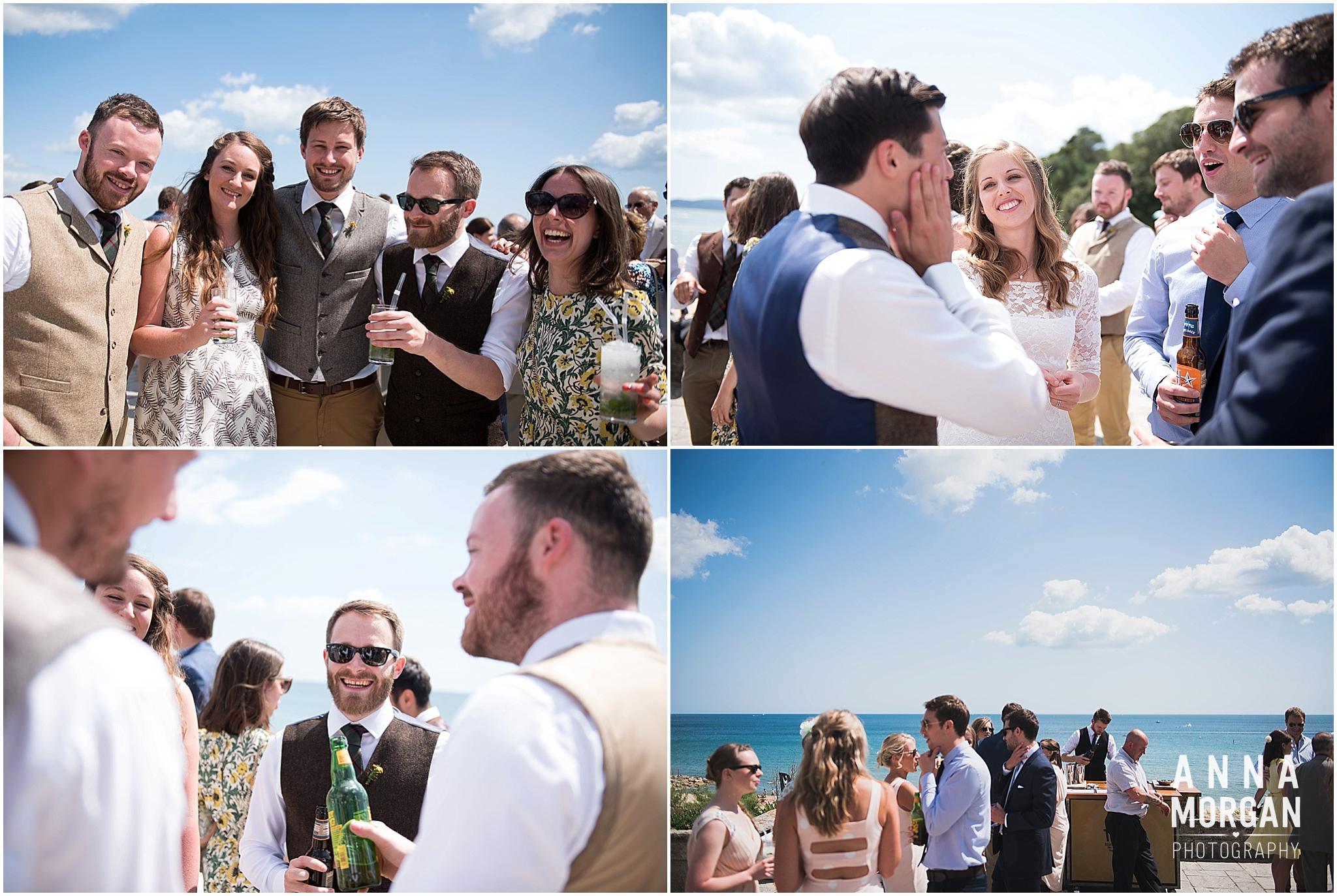 Katie & Hugh Branksome Chine beach wedding Dorset-79