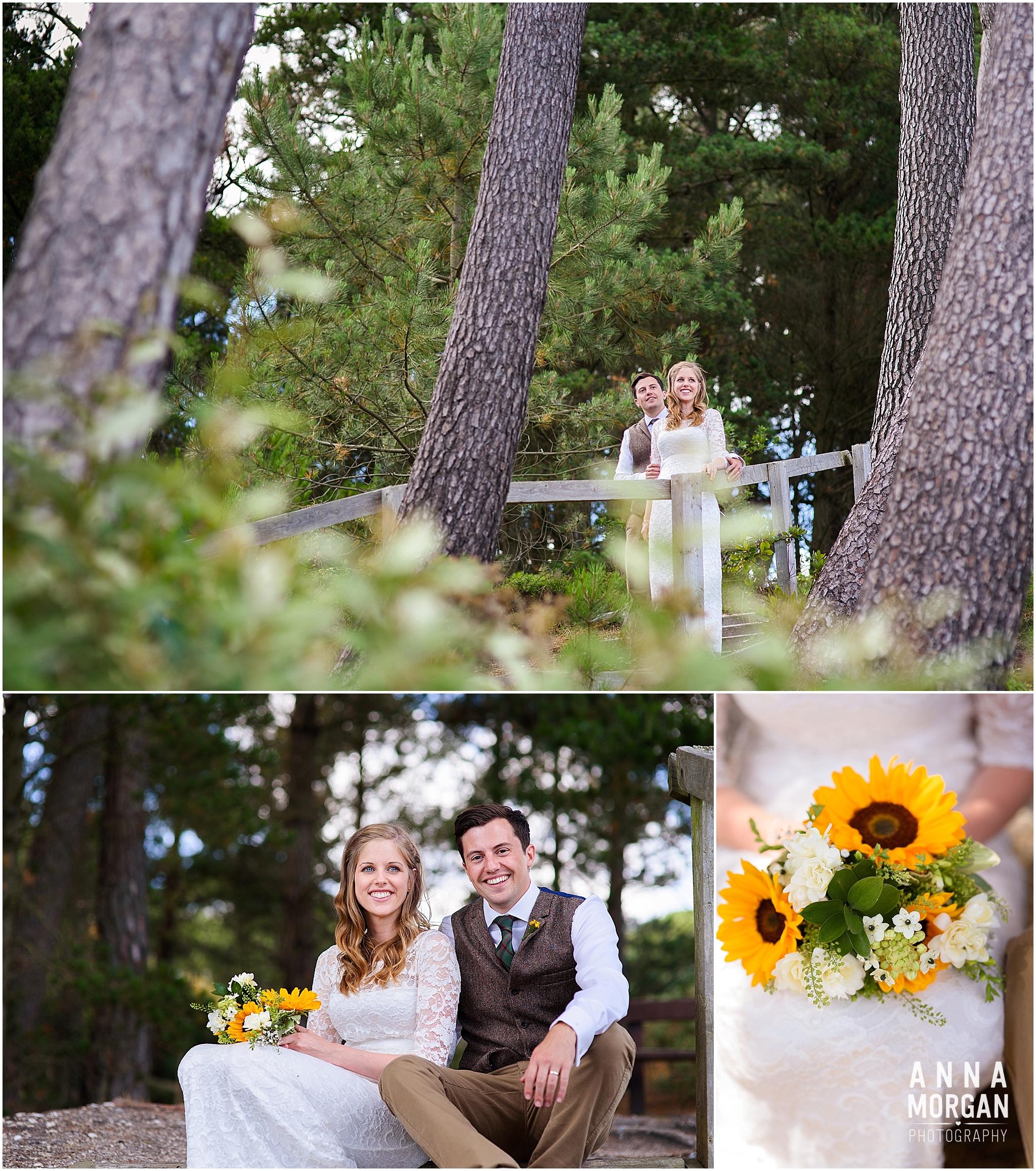 Katie & Hugh Branksome Chine beach wedding Dorset-81
