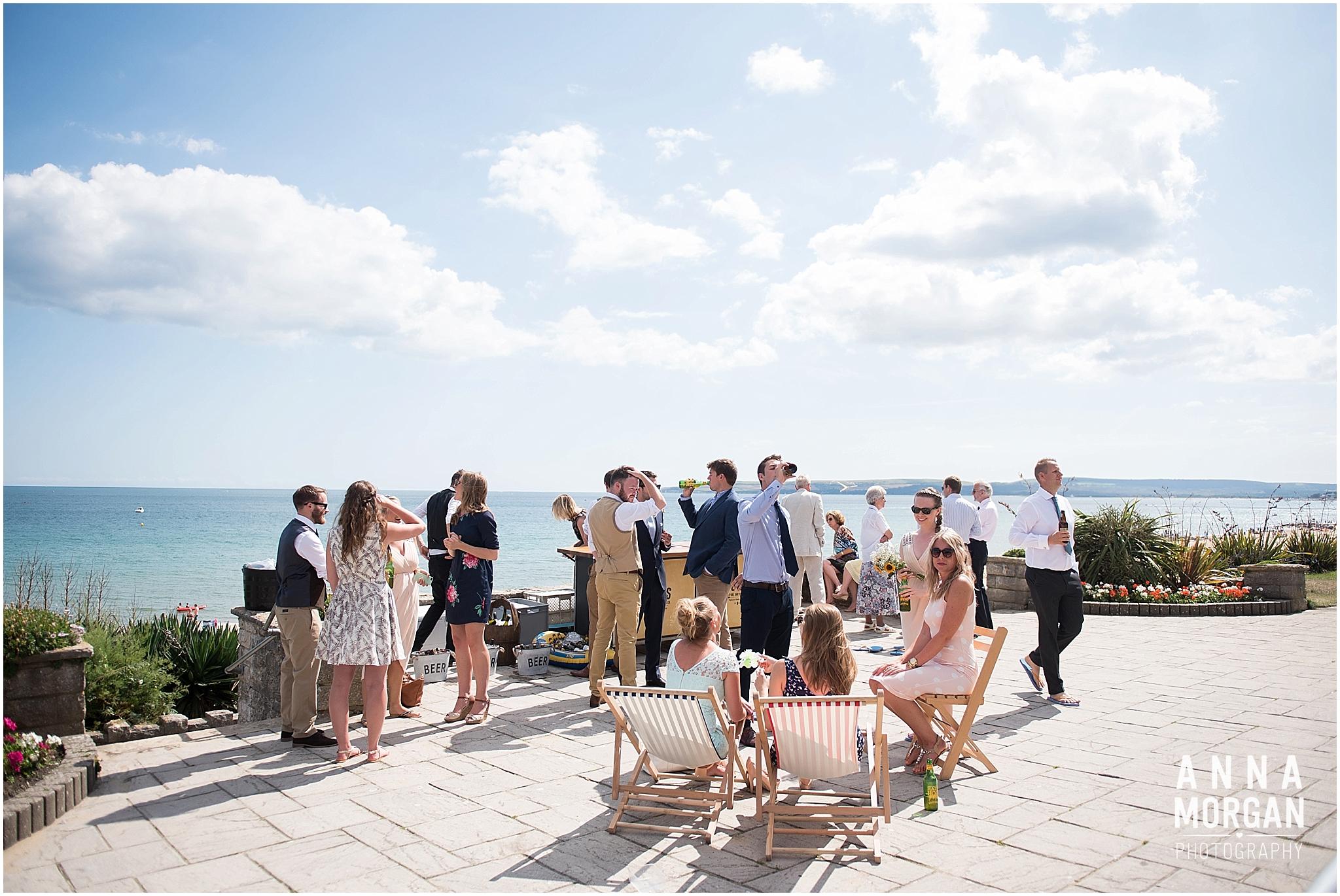 Katie & Hugh Branksome Chine beach wedding Dorset-95