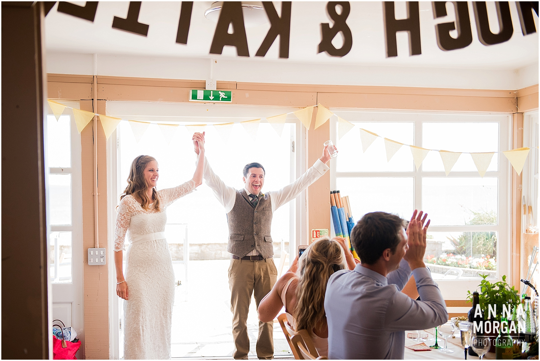 Katie & Hugh Branksome Chine beach wedding Dorset-99