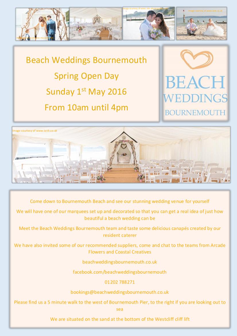 Beach Weddings Bournemouth 2016 Spring Open Day