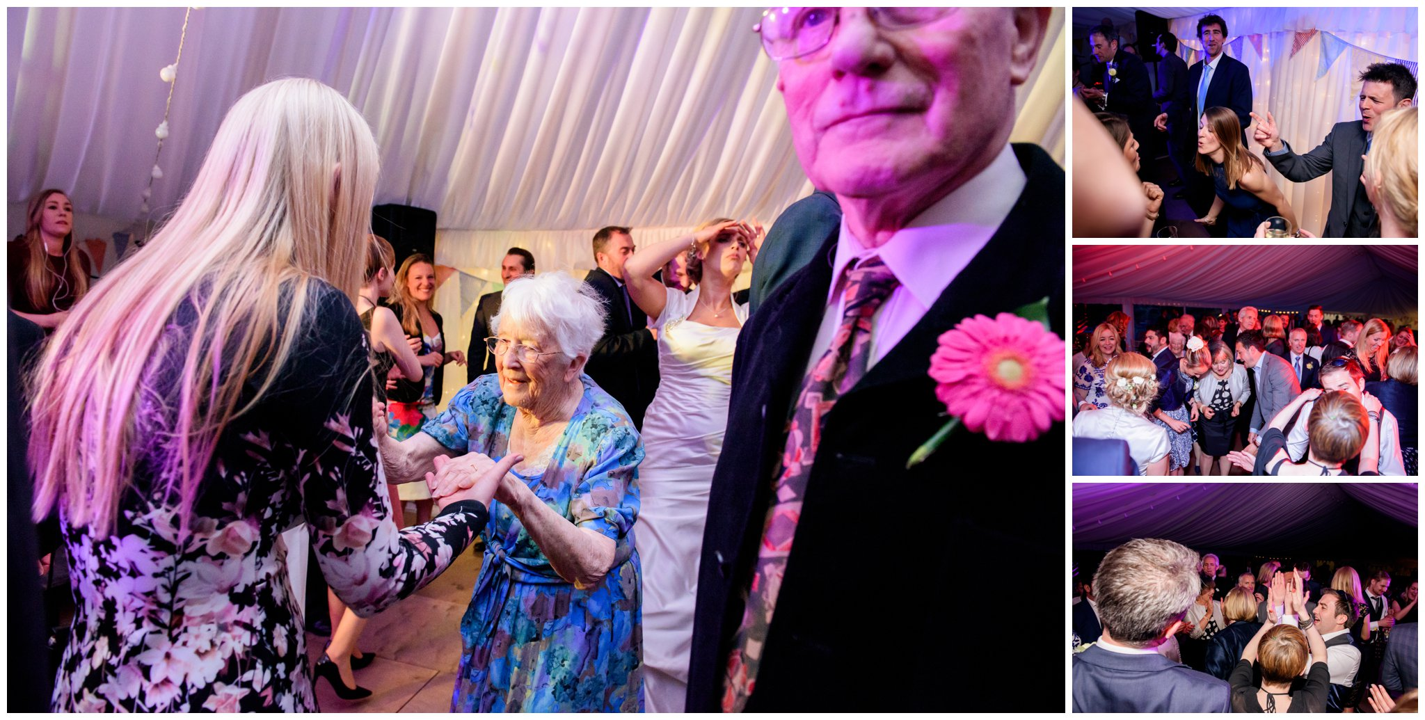 Grandma dancing fun wedding reception at deans court wimborne dorset