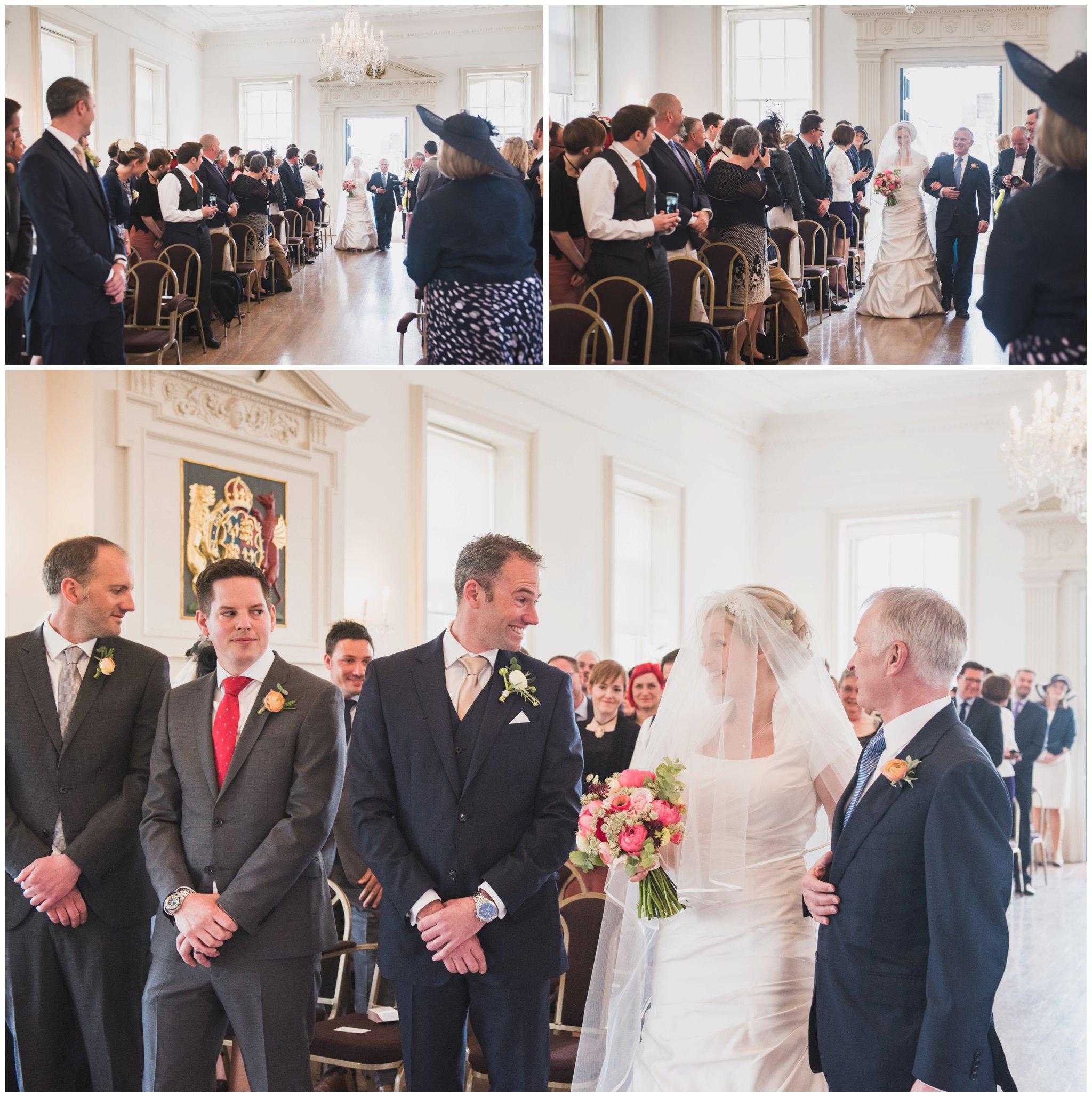 poole guildhall wedding brides entrance into ceremony room