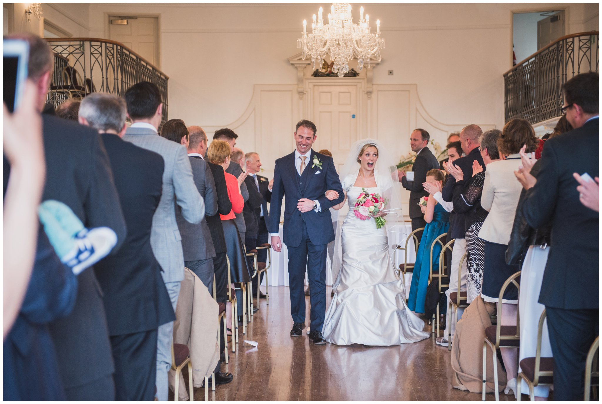 just married bride and groom poole townhall wedding