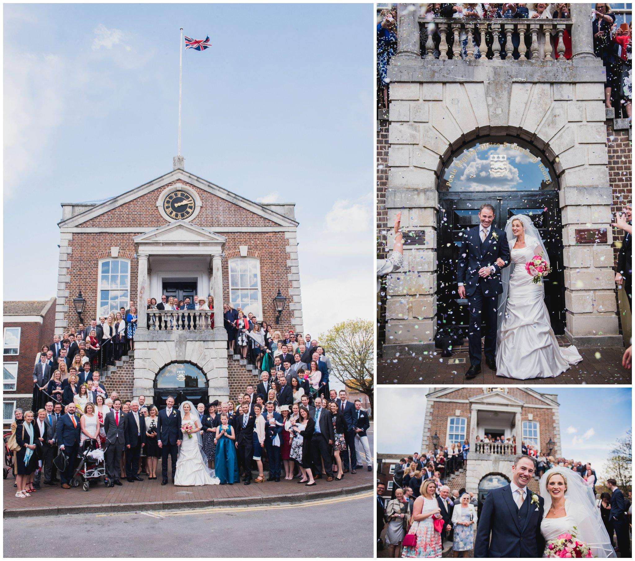 wedding confetti poole guildhall