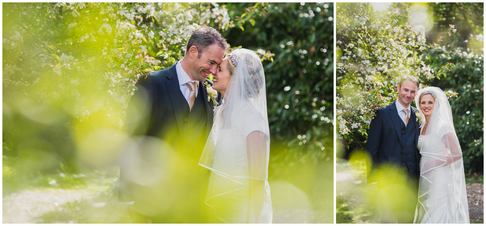 bride and groom deans court wimborne wedding
