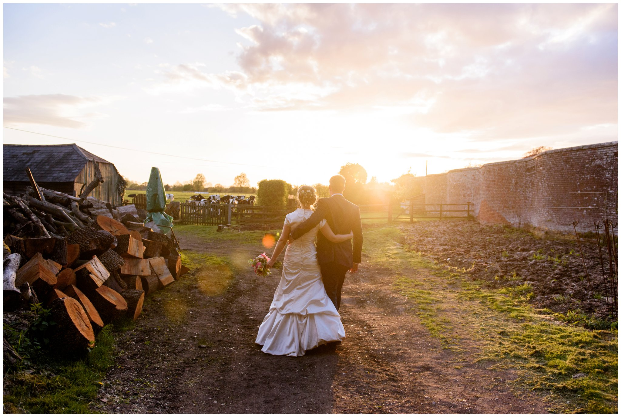 sunset deans court wimborne wedding