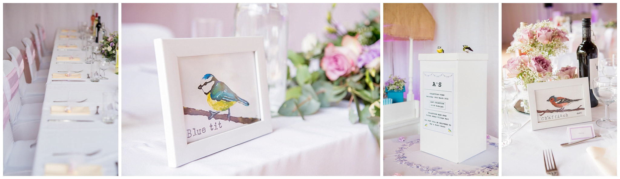 stationary, flowers, diy hand painted bird table numbers