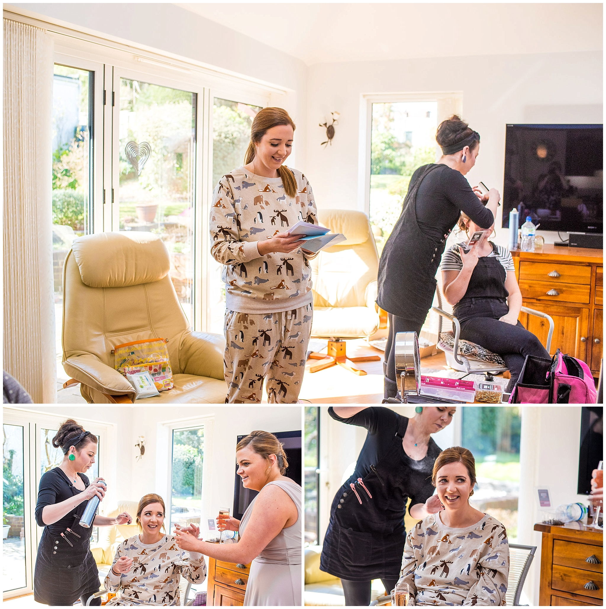 natural photos of bride getting ready