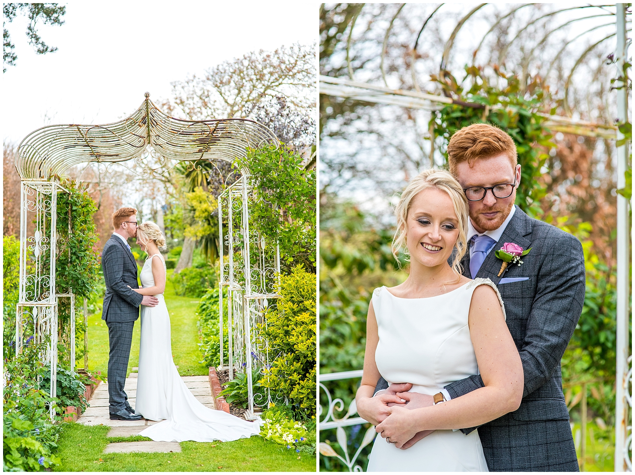 natural bride and groom portraits